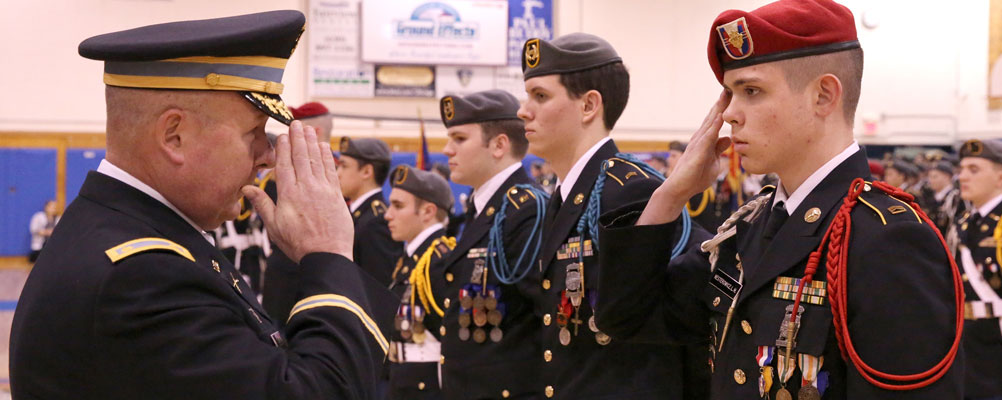 Cadets Awarded at Marmion's Military Night