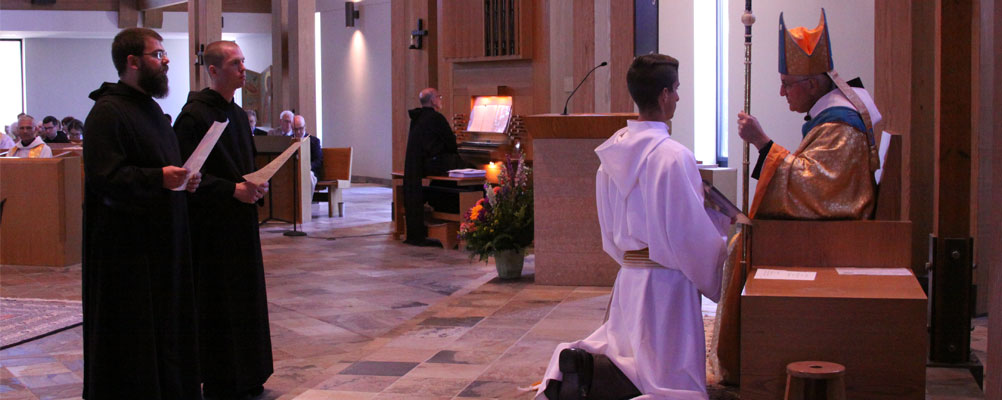 Brs. Antony Maria  and Theodore take their Solemn Vows