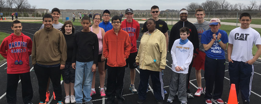 Cadet Camp for area Special Olympic Track Teams