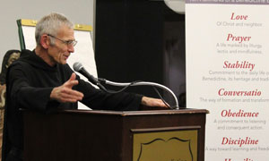Fr. Joel Rippinger delivered the Annual Benedictine Heritage Lecture