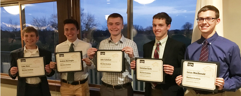 Marmion Students Recognized at the Cap Awards