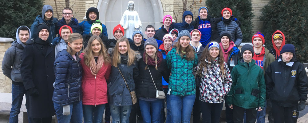 Students participate in March for Life Chicago